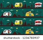 seamless pattern with travel... | Shutterstock .eps vector #1236783937