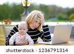 tired young mother working oh... | Shutterstock . vector #1236791314