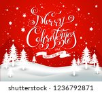 christmas background with... | Shutterstock .eps vector #1236792871