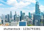 aerial panorama of singapore... | Shutterstock . vector #1236793381
