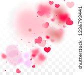 hearts confetti falling... | Shutterstock .eps vector #1236793441