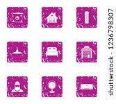 internal icons set. grunge set... | Shutterstock . vector #1236798307