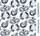 vector pattern with hand drawn...   Shutterstock .eps vector #1236802054