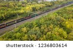 railroad with cargo train in... | Shutterstock . vector #1236803614