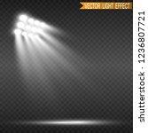 white glowing light.stadium... | Shutterstock .eps vector #1236807721