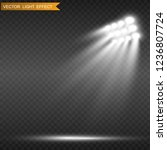 white glowing light.stadium... | Shutterstock .eps vector #1236807724