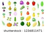 set of flat style vegetables...   Shutterstock .eps vector #1236811471