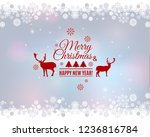 merry christmas and new year...   Shutterstock .eps vector #1236816784