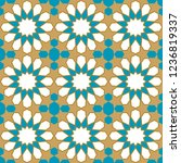 seamless pattern in authentic...   Shutterstock .eps vector #1236819337