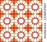 seamless pattern in authentic...   Shutterstock .eps vector #1236819364