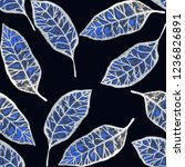 creative seamless pattern with... | Shutterstock . vector #1236826891