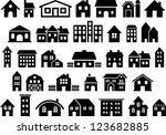 house   building icons | Shutterstock .eps vector #123682885