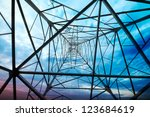 power tower in the sky... | Shutterstock . vector #123684619