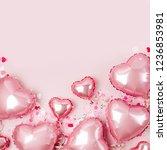 air balloons of heart shaped... | Shutterstock . vector #1236853981