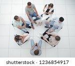 top view.business team... | Shutterstock . vector #1236854917