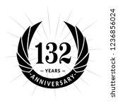 132 years anniversary. elegant... | Shutterstock .eps vector #1236856024
