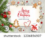 christmas festive template for... | Shutterstock .eps vector #1236856507