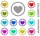 heart icon in multi color....