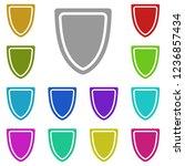 shield  screen  guard  baffle ...   Shutterstock .eps vector #1236857434