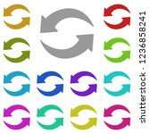 update sign icon in multi color.... | Shutterstock .eps vector #1236858241