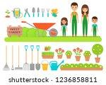 gardener characters  garden... | Shutterstock .eps vector #1236858811
