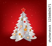 christmas red greeting with... | Shutterstock .eps vector #1236860671