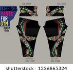 leggings pants for gym | Shutterstock .eps vector #1236865324