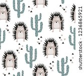 seamless childish pattern with... | Shutterstock .eps vector #1236865921