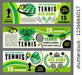 tennis sport game summer camp... | Shutterstock .eps vector #1236866017