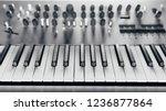metallic analog synthesizer ... | Shutterstock . vector #1236877864