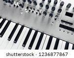 metallic analog synthesizer ... | Shutterstock . vector #1236877867