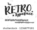 the retro typeface. lettering... | Shutterstock .eps vector #1236879181