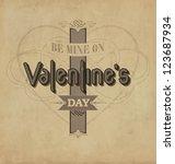 calligraphic valentines design... | Shutterstock .eps vector #123687934