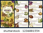 root vegetables and exotic...   Shutterstock .eps vector #1236881554