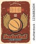 basketball retro poster of ball ...   Shutterstock .eps vector #1236882604