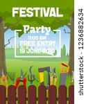 gardening season festival fair...   Shutterstock .eps vector #1236882634