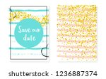 bridal shower set with dots and ... | Shutterstock .eps vector #1236887374