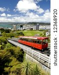 Cable Car - Wellington, New Zealand - stock photo