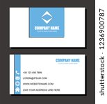 blue style business card vector ... | Shutterstock .eps vector #1236900787