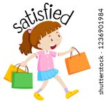 english vocabulary of satisfied ...   Shutterstock .eps vector #1236901984