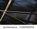 glass and metal in modern... | Shutterstock . vector #1236903454