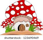 mushroom cartoon for you design | Shutterstock . vector #123690469