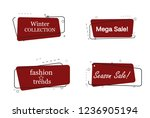 trendy banner flat design set... | Shutterstock .eps vector #1236905194