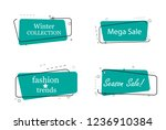 trendy banner flat design set... | Shutterstock .eps vector #1236910384