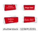 trendy banner flat design set... | Shutterstock .eps vector #1236913231