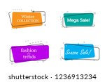trendy banner flat design set... | Shutterstock .eps vector #1236913234