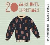 20 days until christmas vector... | Shutterstock .eps vector #1236914527