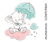 vector illustration of a cute...   Shutterstock .eps vector #1236919864