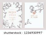 wedding invitation  floral... | Shutterstock .eps vector #1236930997