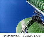 reactor tank for biogas plant | Shutterstock . vector #1236931771